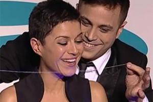 Mago Xacobe e Lorena Pose (TVG) na Gala 25 Aniversario da Universidade de Vigo